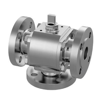Amg Pesch Type K  3-Way Ball Valve,Vertical