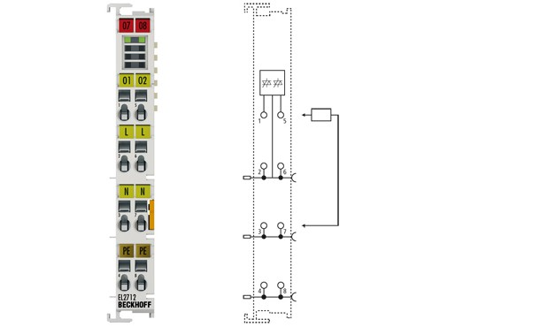 BECKHOFF EL2712  2-Channel Triac Output Terminal