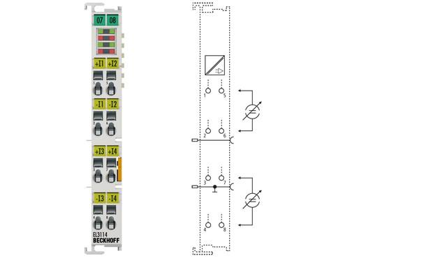 BECKHOFF EL3114  4-Channel Analog Input Terminal