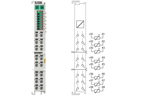 BECKHOFF EL3208  8-Channel Input Terminal