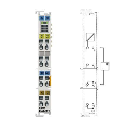 BECKHOFF EL4732  2-channel analog output terminal