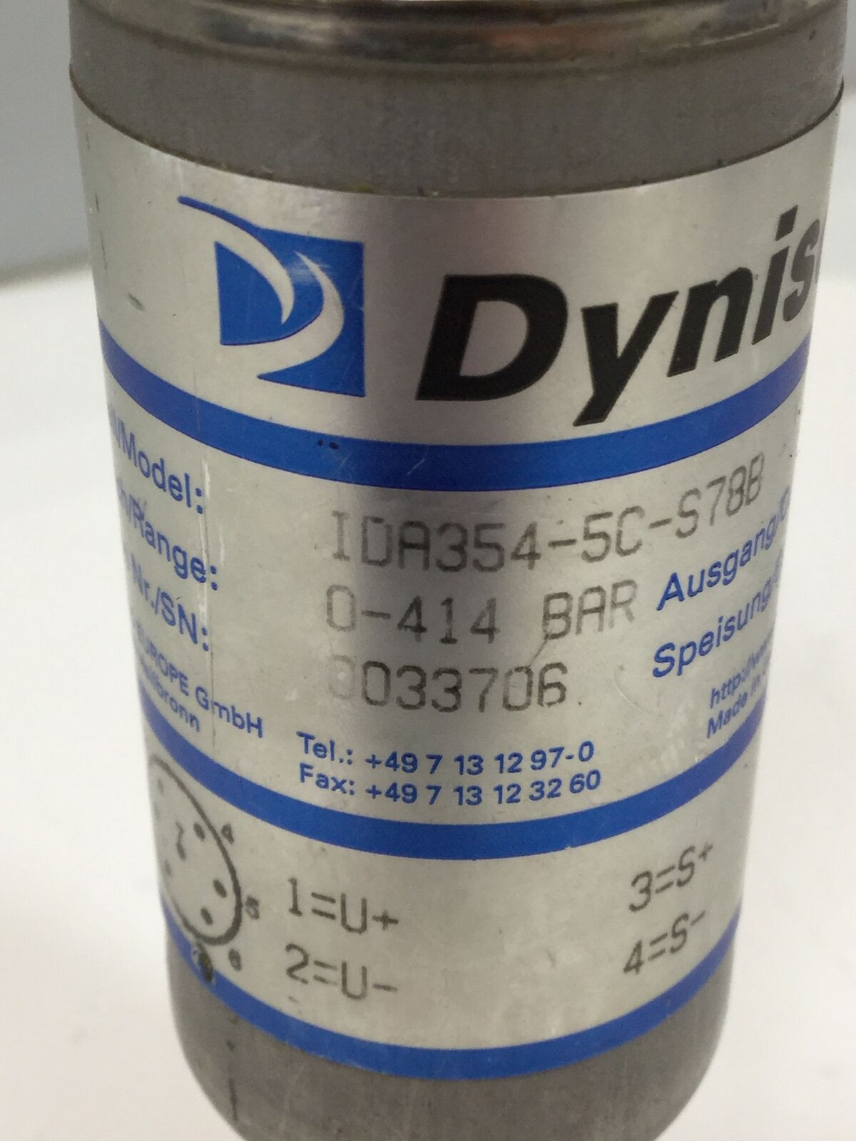 Dynisco IDA354-3,5C-10V-S78B Pressure Transmitters