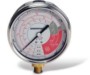 Enerpac GF813B Hydraulic Force and Pressure Gauge,