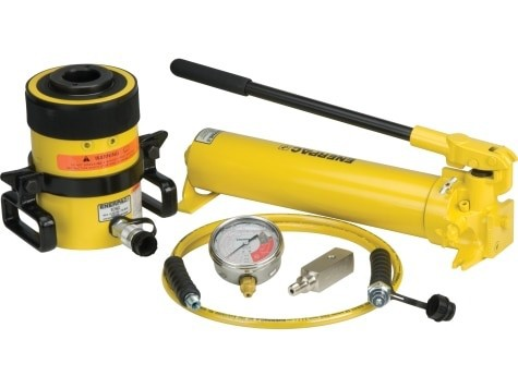 Enerpac SCH603H Hollow Hydraulic Cylinder and Hand Pump Set