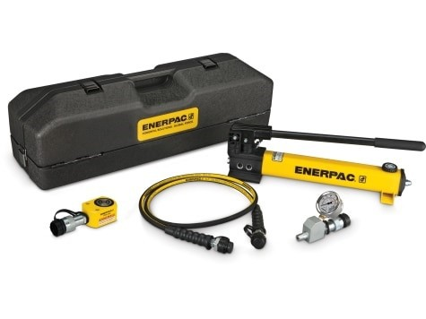 Enerpac SRS100PGH Low Height Hydraulic Cylinder and Hand Pump Set