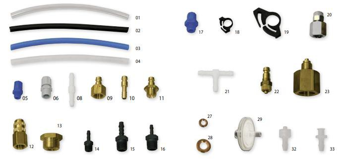 Greisinger GDZ Tube,Tube Clips,Adapter,Couplings,ETC