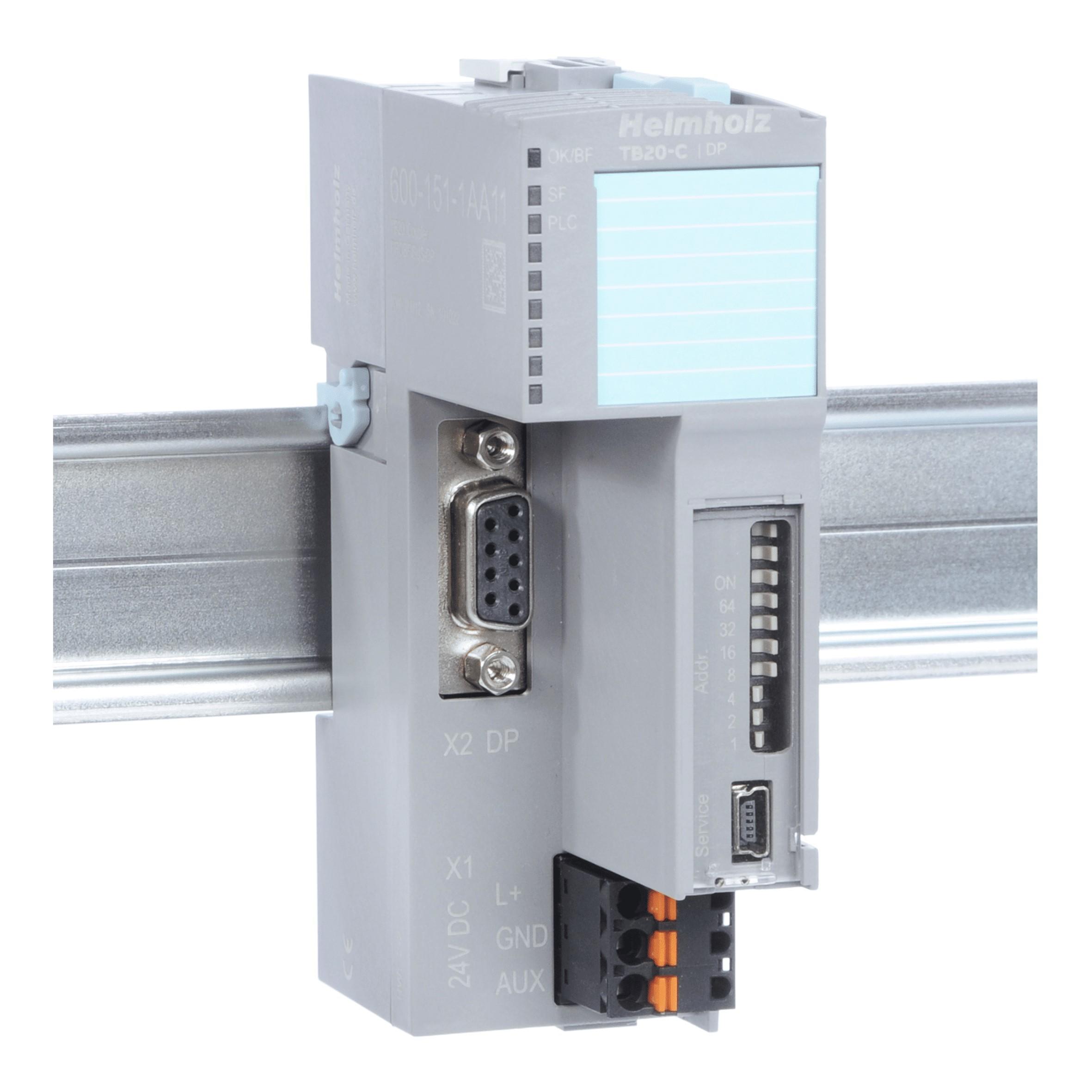 HELMHOLZ 600-151-1AA11 TB20-C, Bus coupler, PROFIBUS-DP