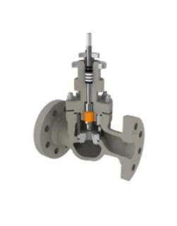 RBR Valvole GL2 Type  Top Guided Angle Globe Control Valve