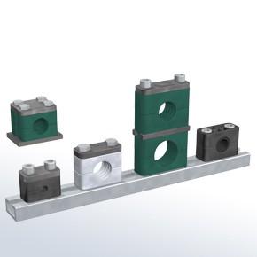 Stauff SP-760.3-AL-DP-AS-M-W10 Pipe Clamp Combination